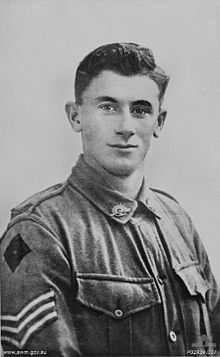 """Unit: 21st Australian Infantry Battalion Alby Lowerson (1896-945) was born at Myrtleford, Victoria, and had been dredging for gold at Adelong, New South Wales, before enlisting in July 1915. He was wounded at Pozières, where his bravery was noted. He was wounded again at Bullecourt in May 1917. At Mont St Quentin Lowerson was cited for his """"conspicuous bravery and tactical skill"""". His bold actions included bombing a German strongpoint which was holding up the attack. With a small team he…"""