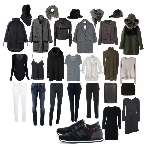 Grey capsule wardrobe. Love this.