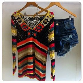 louca por linhas - crochet e patchwork: Todas as cores do arco-íris