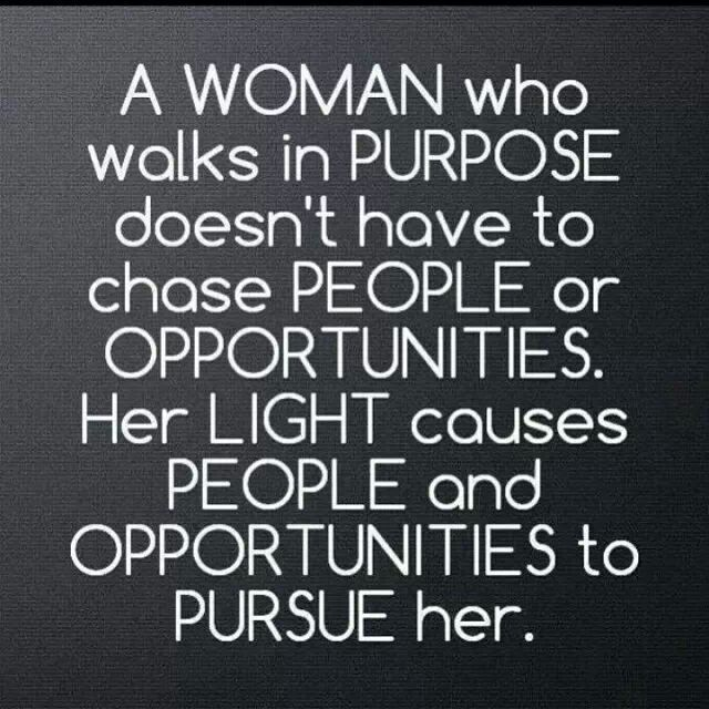 A woman who walks in purpose.