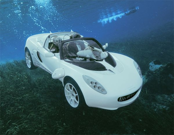 With A Push Of A Button Electric Car Turns Into An Amphibious Vehicle  Buzzinn