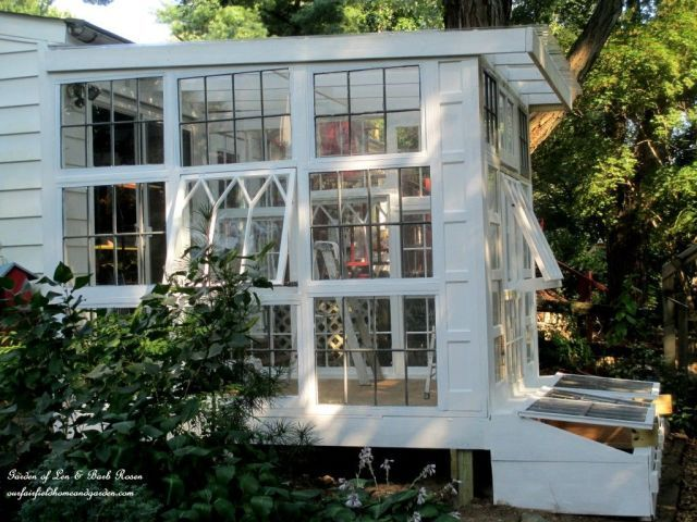 This Brilliant Blogger Turned Vintage Windows Into a Gorgeous Greenhouse  - HouseBeautiful.com