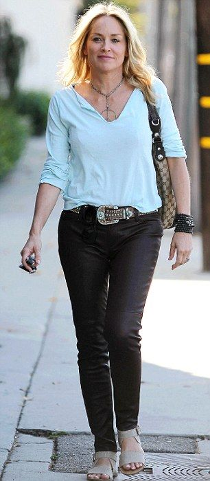 Sharon Stone in West Hollywood