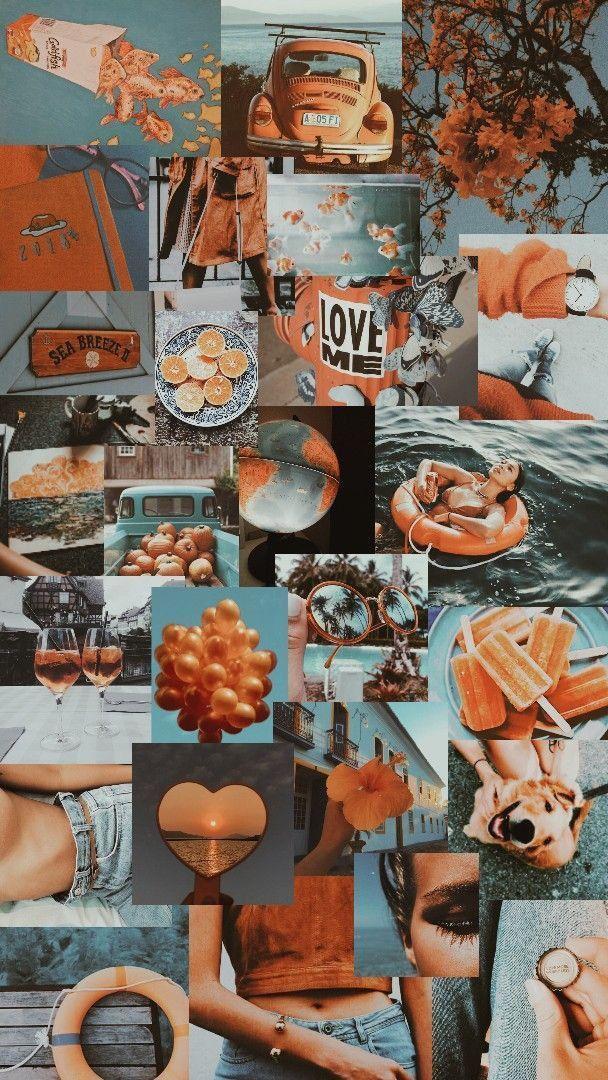 Vintage Vibes Aesthetic Pastel Wallpaper Orange Wallpaper Aesthetic Iphone Wallpaper