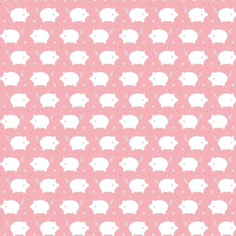 Snowy Pigs fabric by happy_to_see on Spoonflower - custom fabric