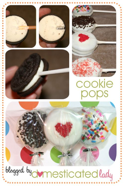 Cookie Pop party favors would be cool for baby shower if you decorated them like rattles or cute baby faces.