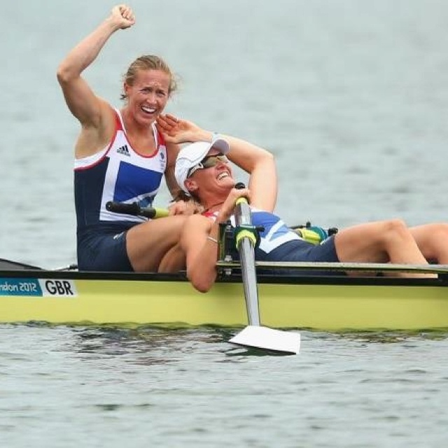 Rowers Helen Glover and Heather Stanning bring home TeamGB first gold! Also 1st EVER Olympic gold for Woman's Rowing Team :)