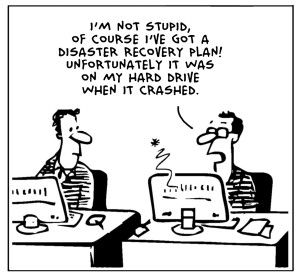 cloud humor - disaster recovery