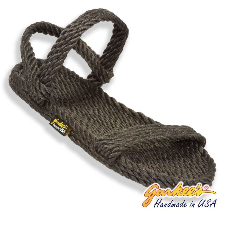 Classic Montego Charcoal Rope Sandals - Gurkee's