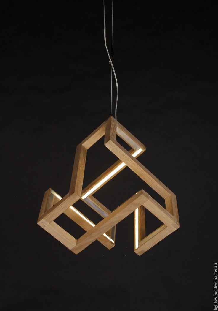 Купить Светильник из дерева РУНА - светильник из дерева, деревянный светильник, светильник из дуба, светильник руна