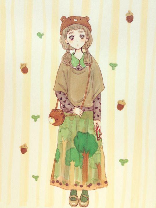 ANIME ART Clothes Cute Fashion Mori Girl