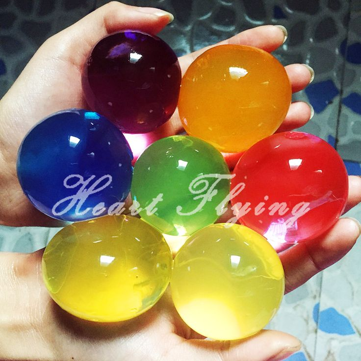 10 unids Cristalino Grande Juguete Niños Crecer Bolas de Barro de Agua Perlas de Agua Del Suelo de Hidrogel Gel Decoración de Flores En Casa