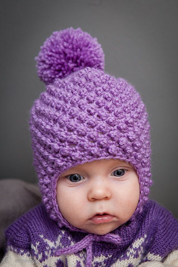 Crocheted Baby Hat by unneva on Etsy, $30.00