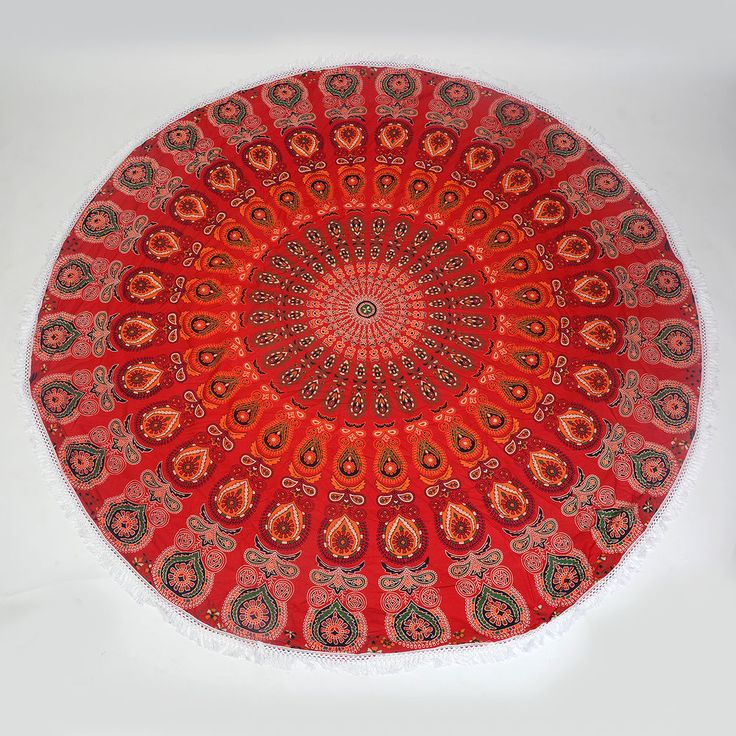 Bohemian Mandala Round Beach Tapestry Hippie Throw Yoga Mat Towel Indian Round #Unbranded #Ethnic