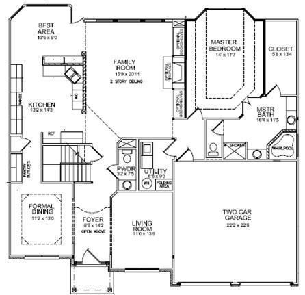 ball homes house plans - house interior