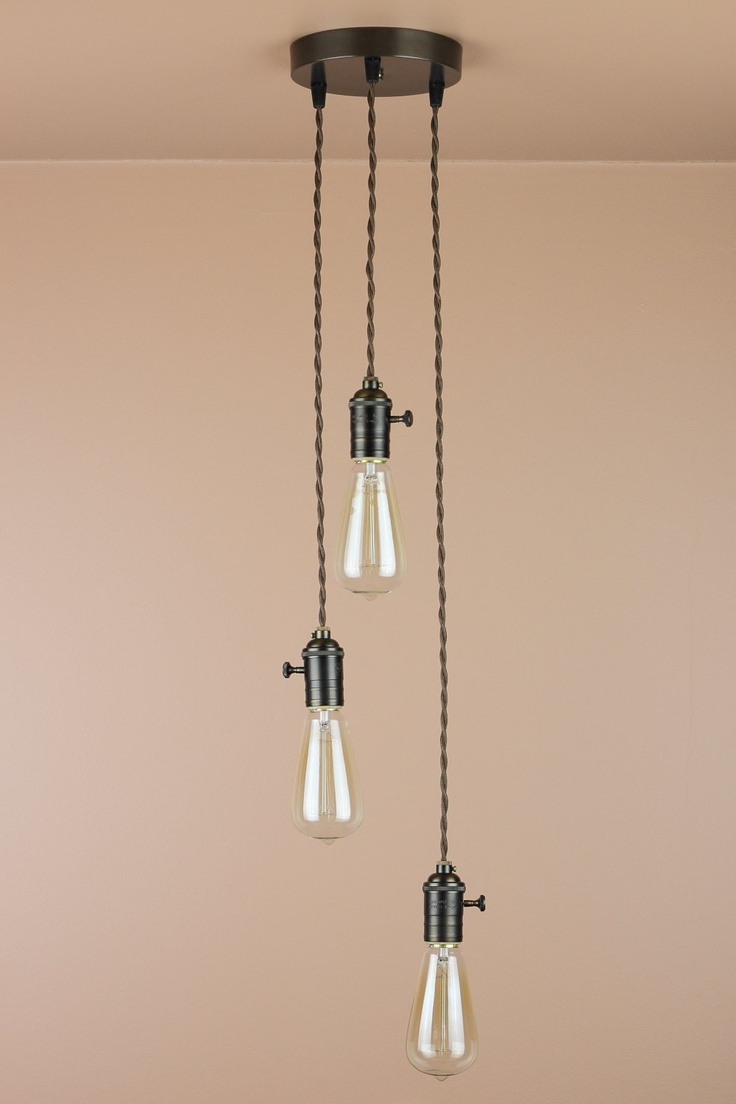 shop fullxfull ceiling pendant il light edison bulb glass brushed fixture cylinder nickel