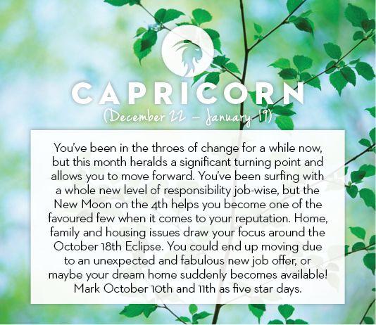 #Capricorn October #horoscope 2013
