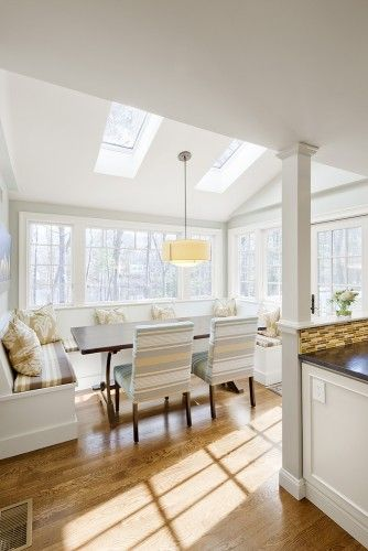 Love This Bright but Yet Cozy Dining Area.  Check out the Skylights Above.  What a View !!!!!
