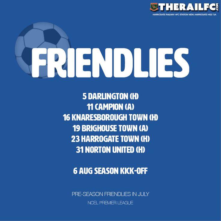Pre-season fixtures update - Campion game on 11 July    @therailfc #Harrogate #NCEL