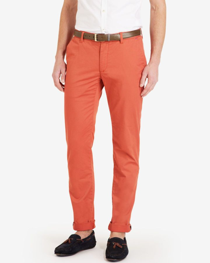$99, Ted Baker Sorcor Slim Fit Cotton Chinos. Sold by Ted Baker. Click for more info: https://lookastic.com/men/shop_items/234081/redirect