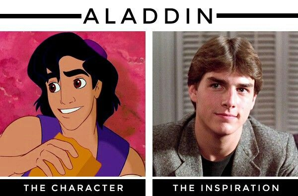 Tom Cruise was the inspiration for Aladdin