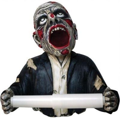 Living Dead Gruesome Zombie Toilet Roll Holder from Delphinus Dreams.