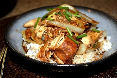 Soy Balsamic Chicken over rice CROCKPOT
