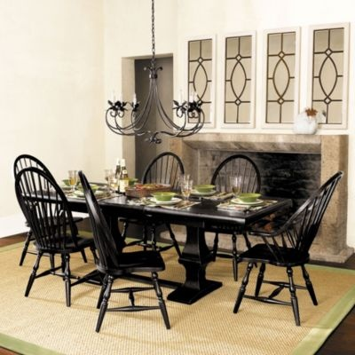 Chianni trestle table dining tables ballard designs for Ballard designs dining room