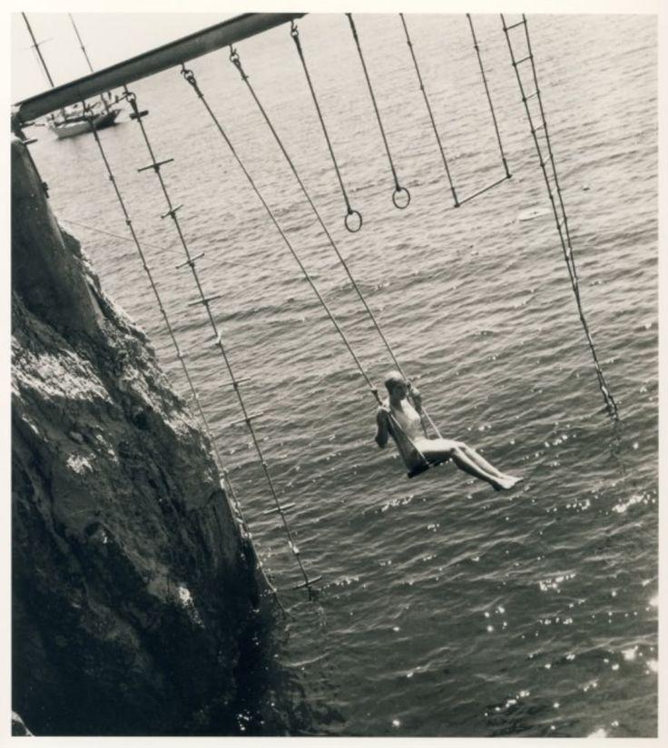 Regina Relang, Woman on a swing, Eden Roc, Cap d'Antibes, 1938