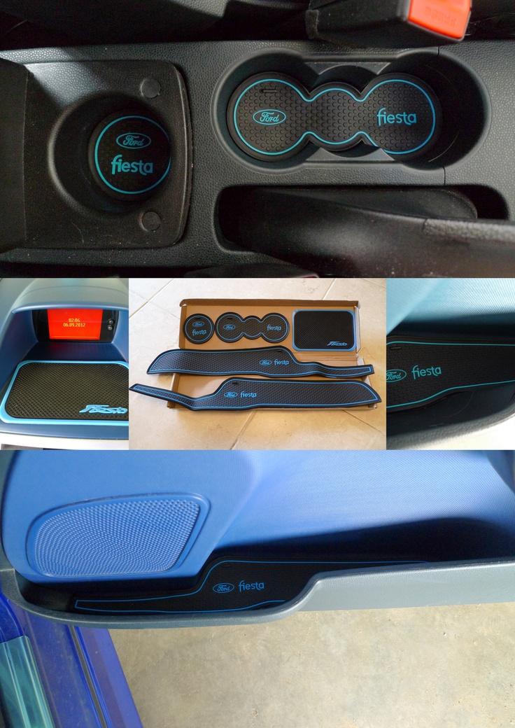 Blue interior rubber matt set for ford fiesta mk7 ford fiesta accessories news pinterest for Ford focus interior accessories