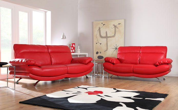Best 25 red leather sofas ideas on pinterest living - Red leather living room furniture set ...