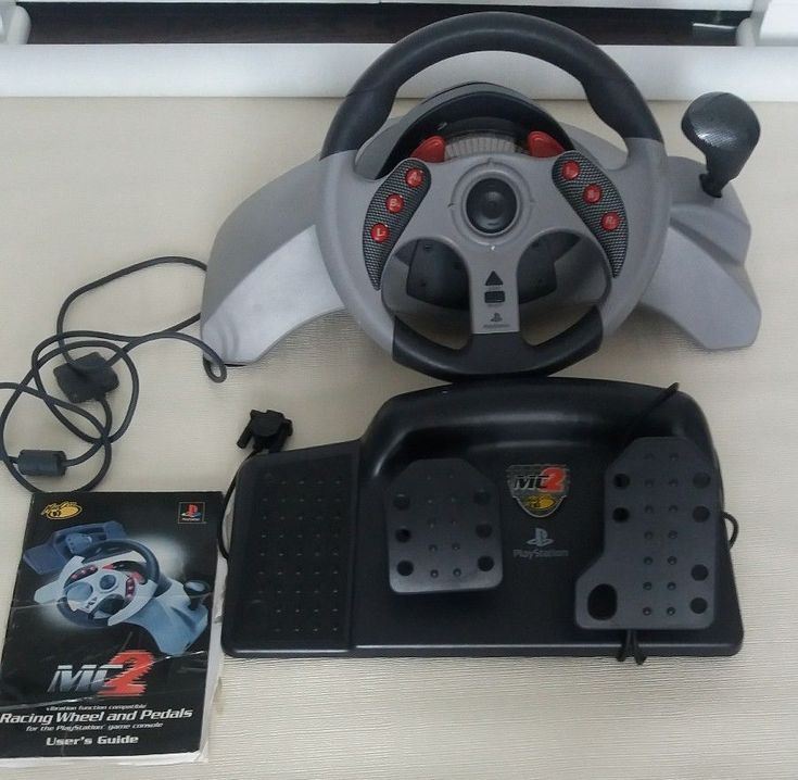 Mad Catz MC2 Racing Wheel and Pedals For Playstation  #MadCatz