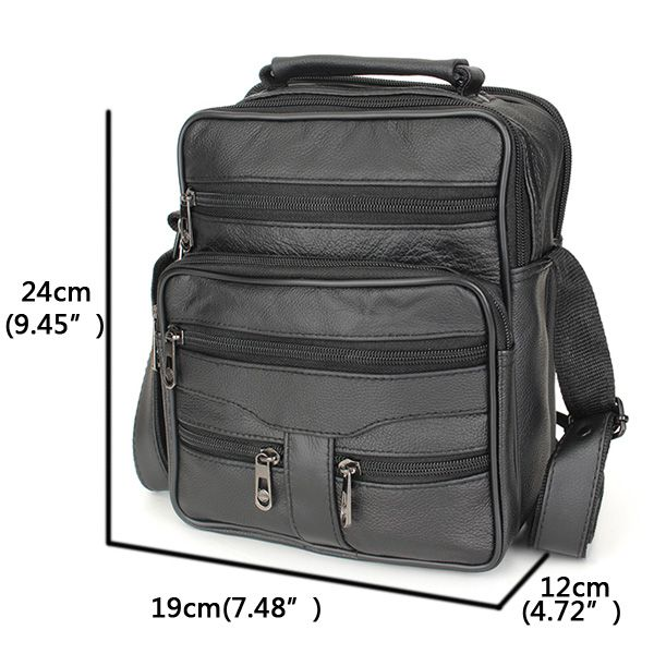 Men's Genuine Leather Outdoor Leisure Crossbody Bag Business Handbag