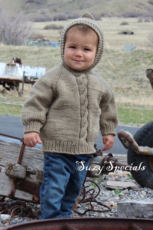 Knitting Baby Sweater Measurements : Knitted hooded baby sweater with back zipper size to