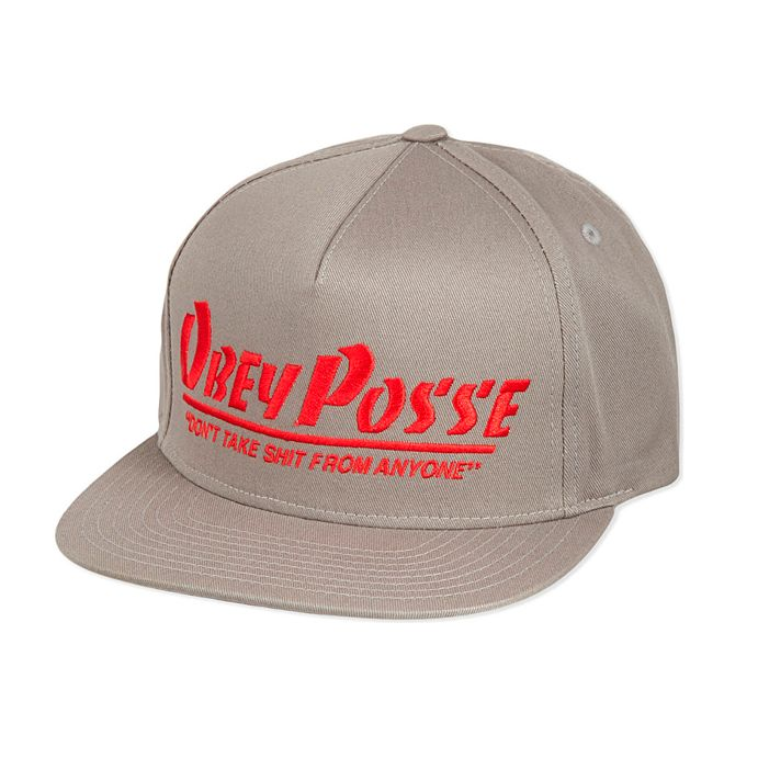 Gorra Plana Obey Posse Snapback Grey – The Surf Town