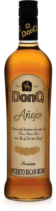 Don Q Añejo - Gold Medal Winner of the 2011 Beverage Tasting Institute. Aged in American White Oak barrels from three to five years, Añejo offers a bouquet and mouthfeel that rum experts find... well... intoxicating.