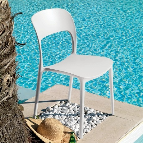 Recyclable White Gipsy Chair by Bontempi