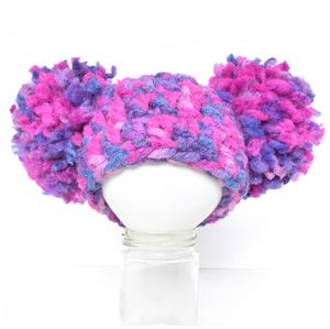 Purple Cream Puff Cream Puff Newborn Baby Toddler Beanie Hat Photography Prop