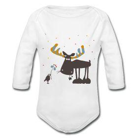 #Langarmbody mit #Elch Heinrich besteht aus 100 % Baumwolle und ist der perfekte Begleiter für jedes #Baby.