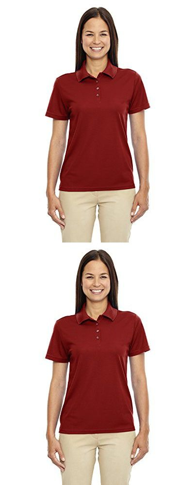 North End Women's Performance Pique Polo Shirt , CLASSIC RED 850, XXX-Large