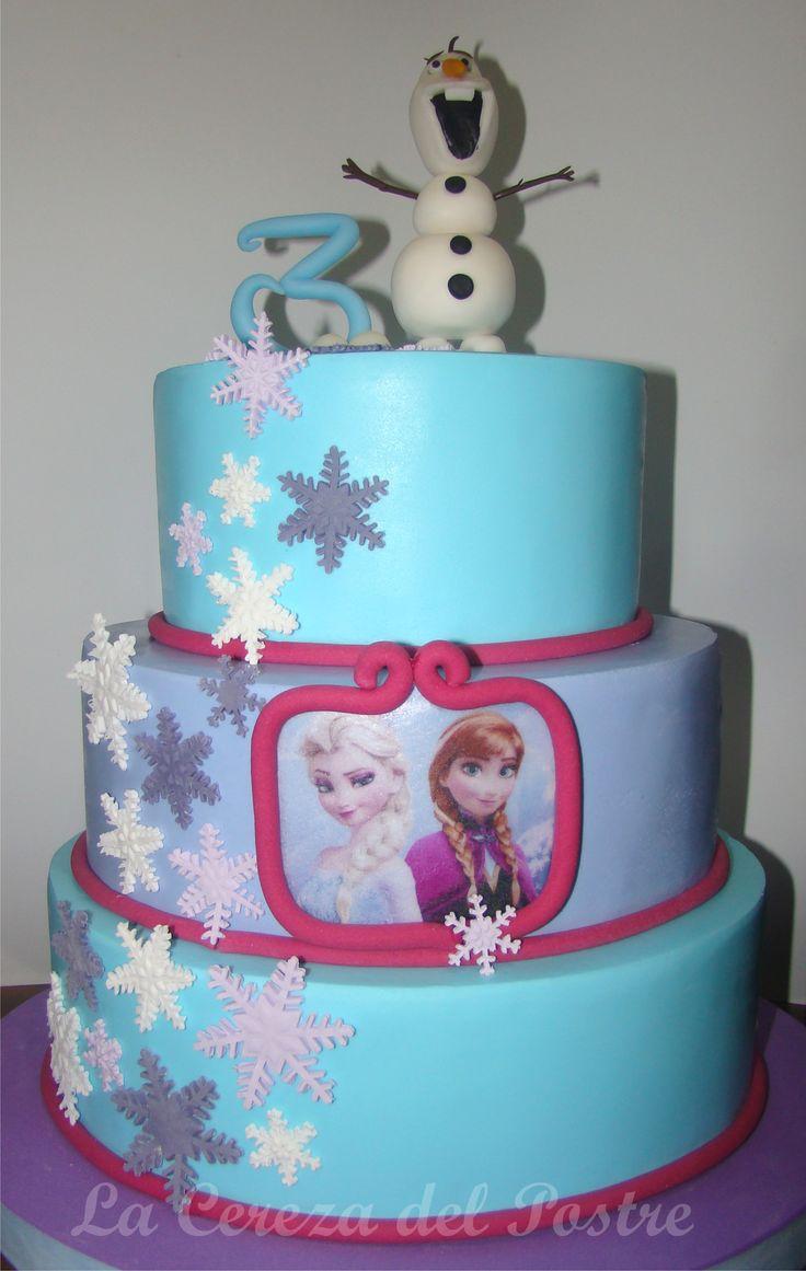 #frozencake #olaf #annayelsacake #tortafrozen #tartafrozen #bolofrozen #lacerezadelpostre