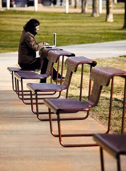 Multi-Functional chair & table: why not add some of these around town (the library, Court house, Yuba College...)?