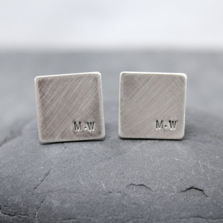 SPACE initial Cufflinks, Cuff links for men. $94.00, via Etsy. . . . . . der Blog für den Gentleman - www.thegentlemanclub.de/blog