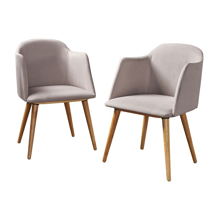 Rhys Mid - Century Dining Chair - Beige (Set of 2) - Christopher Knight Home, Light Beige