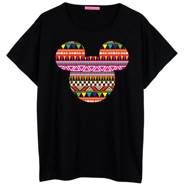 Mouse Tribal T Shirt Boyfriend Tee Womens Ladies Girl Fun