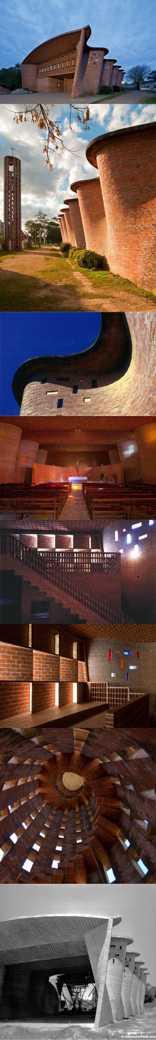 1958 Eladio Dieste - Iglesia Atlantida / Church of Christ Obrero / Uruquay / brick / religious / expressionism