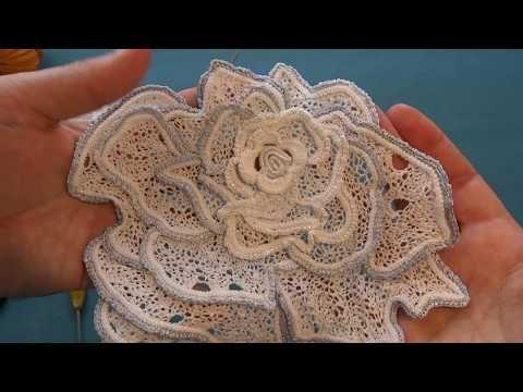 МК Роза. Работа с эскизом, раскладка гусеничек - YouTube