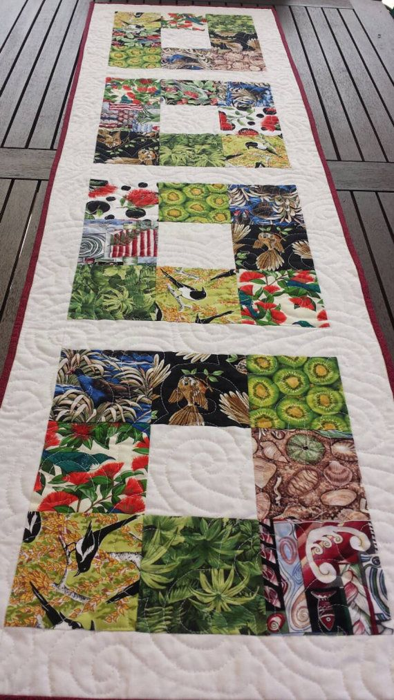 Kiwiana Quilted Table Runner by TeaLeafCreations on Etsy