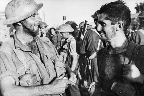 New Zealand and Australian soldiers at Crete, 1942