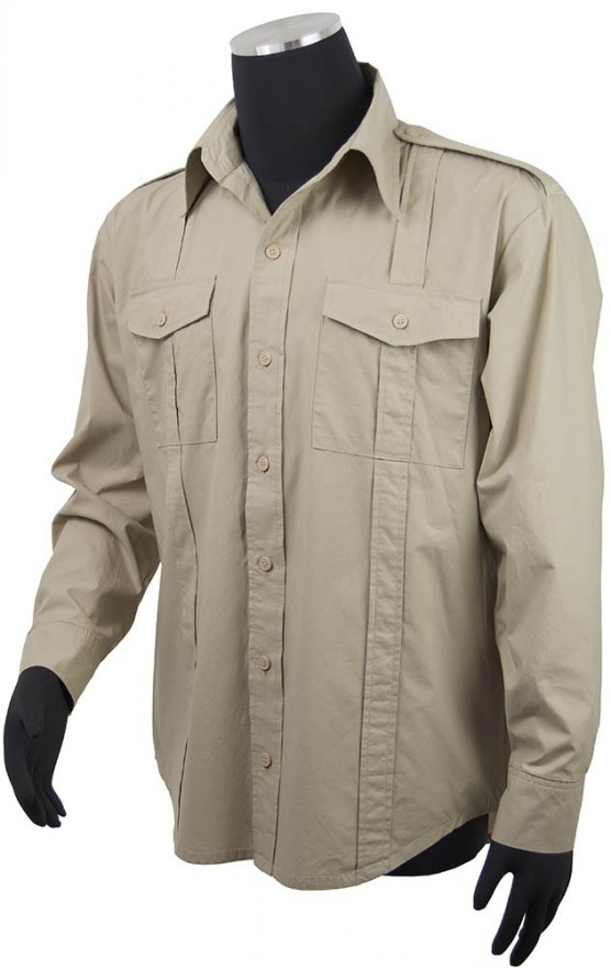 Todds Costumes  - Coyles Indiana Jones Style Shirt, $49.95 (http://www.toddscostumes.com/costumes/movie-costumes-indiana-jones-costume/indiana-jones-clothing/indiana-jones-shirt-size-l/)